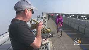 Party Atmosphere As Richmond-San Rafael Bridge Bike Path Opens [Video]