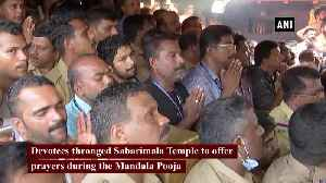 News video: Devotees at Sabarimala oppose women's entry