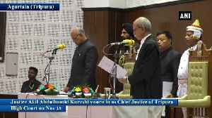 Justice Akil Abdulhamid Kureshi takes oath as Chief Justice of Tripura High Court [Video]