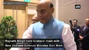 Rajnath Singh holds bilateral talks with New Zealand counterpart in Bangkok [Video]