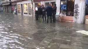 News video: Venice underwater again as high tide brings fresh flooding