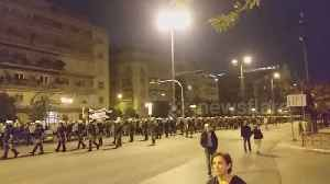 News video: Hundreds of riot police seen in Athens near US Embassy as Greeks mark anniversary of 1973 student uprising