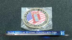 Native American veterans honored with coin [Video]