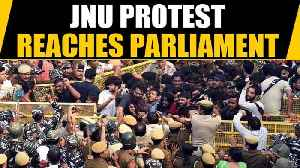 JNU students march to Parliament against fee hike, new hostel rules | OneIndia News [Video]