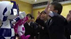 Tokyo 2020 Olympic Mascot Robots Excite Japanese Schoolchildren! [Video]