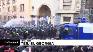 Georgia: Police clash with protesters in front of Parliament [Video]