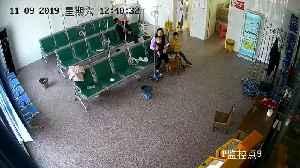 Mum And Kids Dodge Car Crashing In Hospital Waiting Room [Video]