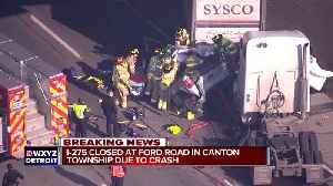 Crash involving 2 semis & SUV closes NB I-275 at Ford Rd. [Video]