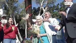 Adorable Centenarian Celebrates Birthday at Former High School [Video]
