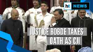 Justice SA Bobde takes oath as 47th CJI, succeeds Ranjan Gogoi [Video]