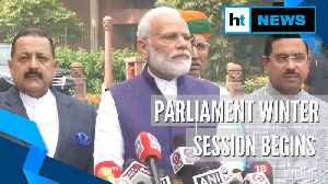 News video: Parliament winter session kicks off; PM Modi calls for quality debates