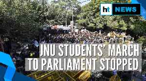 JNU fee hike row: Students' march to Parliament halted by cops [Video]