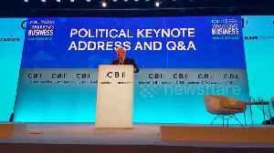 News video: Boris Johnson and Jeremy Corbyn address business leaders