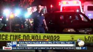 News video: At least 4 dead in shooting at Fresno football watch party