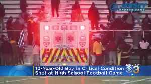 10-Year-Old Boy Remains In Critical Condition After Shot During High School Football Game [Video]