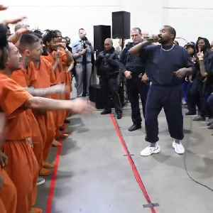 Kanye West gives surprise performance at Texas jail [Video]