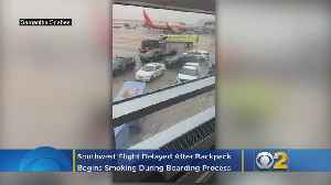 Smoke From Backpack On Southwest Plane At Midway, Bound For Austin [Video]