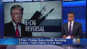President Trump Reportedly Backing Away From Flavored E-Cigarette Ban [Video]