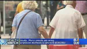News video: Healthwatch: Half Of Adults Worry About Dementia; What You Eat Could Help Prevent The Flu