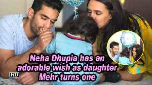 Neha Dhupia has an adorable wish as daughter Mehr turns one [Video]