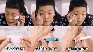 Allure Editor's Winged Eyeliner Tutorial In Real Time (3 Looks) [Video]