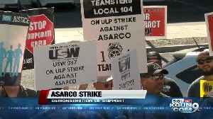 ASARCO workers picket at company headquarters as strike enters 6th week [Video]
