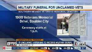 17 unclaimed vets being laid to rest [Video]