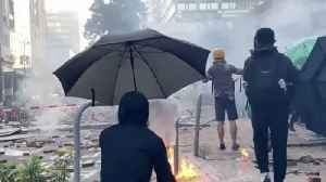 Violence as HK protesters try to leave university [Video]