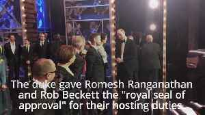 William and Kate meet Royal Variety entertainers