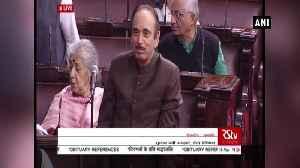 Arun Jaitley was good orator and leader Ghulam Nabi Azad [Video]