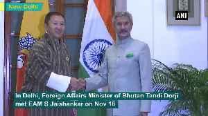 EAM Jaishankar holds bilateral meet with his Bhutanese counterpart [Video]