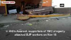 TMC workers allegedly attacked BJP workers vandalized office in WB Asansol [Video]