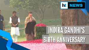 Sonia, Manmohan Singh pay tribute to Indira Gandhi on her birth anniversary [Video]