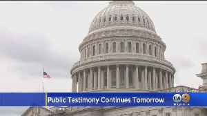 News video: House Releases Testimony From Official Who Overheard Trump Call