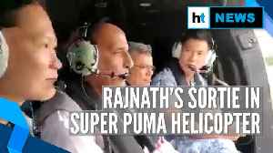 Rajnath Singh takes sortie in Singapore Air Force's Super Puma helicopter [Video]