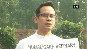 Assam Congress MPs stage protest in Parliament premises against privatisation of Numaligarh Refinery [Video]