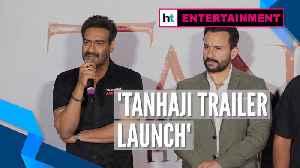 Ajay Devgn, Saif Ali Khan on their characters in 'Tanhaji: The Unsung Warrior' [Video]