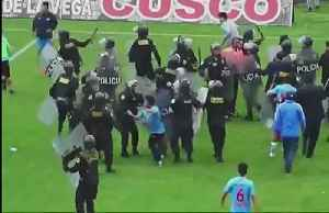 Soccer pitch or battlefield? Peru Cup game turns ugly [Video]