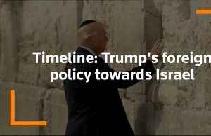 Timeline: Trump's foreign policy towards Israel [Video]