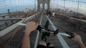 On the Brooklyn Bridge Bike Lane [Video]