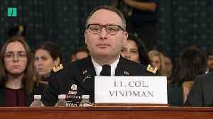 News video: Vindman Turned Down 'Comical' Job Offer From Ukraine