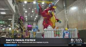 Get A Sneak Peek At Macy's Thanksgiving Day Parade Floats [Video]