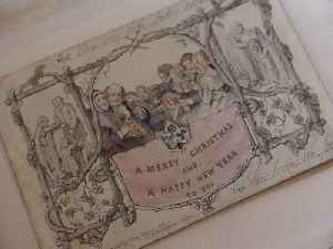 World's first Christmas card goes on display [Video]