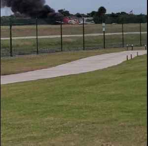 Plane on Fire at Venice Florida Airport [Video]