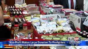 1st Sgt. Salsa donates food, more to Florence Fire Department [Video]
