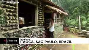 Brazil home made with of over 6,000 bottles [Video]