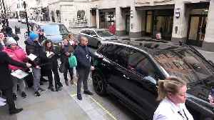 News video: Rare outing for Elton John as he arrives at book signing in Piccadilly Circus, London