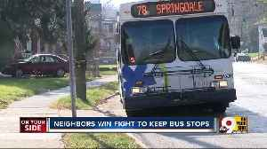 Avondale residents ask to keep Vine St. bus stop open, Metro listens [Video]