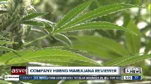 Company will pay person $3K per month to review marijuana [Video]