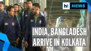 India, Bangladesh land in Kolkata for 1st Day/Night Test, pink ball 'exam' [Video]